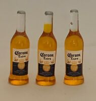 Dolls House Miniature 1/12th Scale Set of 3 'Corona' Beer Bottles SK111