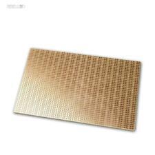 Kupferplatine 160x100mm Lochraster Punkt-Ketten-Reihen RM 2,54mm, Kupfer-Platine