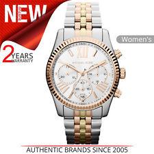 Michael Kors Lexington Reloj Mujer │ Cronógrafo Esfera │ Tri Tono Pulsera │