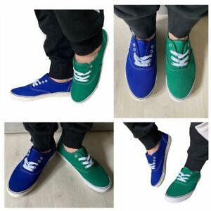 Zapatos Hombre De Gimnasia Color Verde Azul Zapatillas Medida 40-45 MAPLEAF