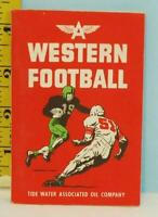 1951 Tydol Flying A Ethyl Gas Western Football Booklet Tiger Power Gas