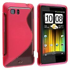 Flexible TPU Gel Case for HTC Vivid - Hot Pink