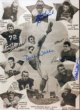 1948 College FB All-American Team: Photo Hand-Autographed by 6 Members