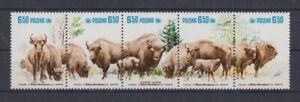 Poland 2764 - 68 Zd Bison (MNH)