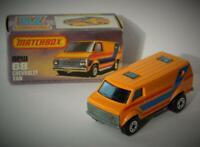 MATCHBOX LESNEY SUPERFAST #68 CHEVROLET VAN RARE BLUE STRIPE VNMIB 1979-80