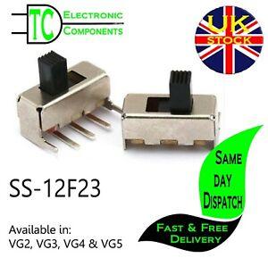 SS-12F23 SPDT PCB Mount slide switch (2 Pack) Available in VG2, VG3, VG4 & VG5