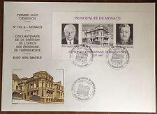 MONACO - ENVELOPPE 1ER JOUR BF N°39a - BLOC FEUILLET NEUF NON DENTELE - 1987