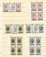 Lesotho, Postage Stamp, #335-337 Mint NH Imperf Blocks & Gutter Pairs, DKZ