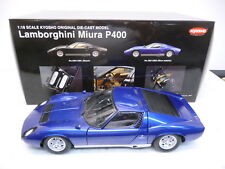 Kyosho 08312BM 1:18 Lamborghini MIURA P400 blaumetallic TOP in OVP