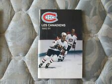 1980-81 MONTREAL CANADIENS MEDIA GUIDE Yearbook 1981 Press Book Program NHL AD
