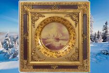 Relieff Bild Segelschiff Maritim Vintage goldfarben Barockrahmen Geschenk Kunst