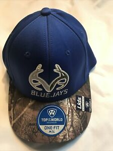 NEW Creighton University Bluejays Realtree Camouflage Camo One Fit Hat Cap M/L