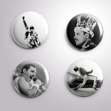 4 FREDDY MERCURY QUEEN -  Pinbacks Badge Button 25mm 1''