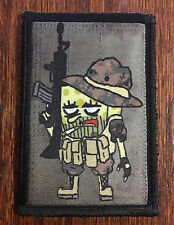 Tactical Spongebob Squarepants Morale Patch Military Army Badge Hook Flag USA