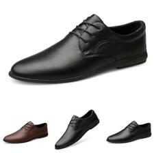 Men's Work Office Pointy Toe Dress Formal Oxfords Business Faux Leather Shoes L