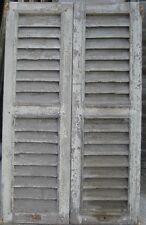 Vecchia finestra a griglia in legno vecchio prezzo per la coppia cm 89 x149 - 1