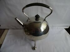 More details for vintage silver plated spirit kettle on stand with burner atkin bros. sheffield