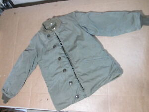 """Post WW2 WWII US Army Field Pile Jacket Coat M-1943 Size 38L Pat. """"B"""" Dated 9/50"""