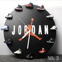 Air Jordan 1-12 Clock, Mini 3D HypeBeast Sneaker Clock with 12 pairs of Sneakers