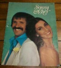 Vintage 1977 Sonny & Cher Concert Tour Program Book