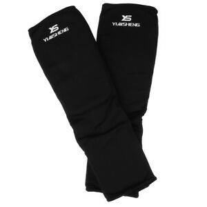 MMA Instep Shin Guard Ankle Support Protection Foot Brace Equipment Black M