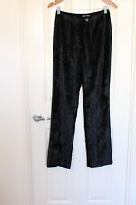 CUE Design Velvet Wide Leg Dress Pants Size 10 Vintage Design
