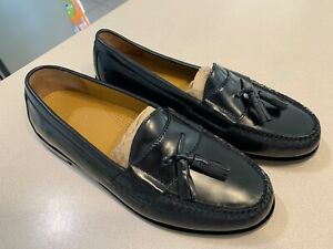 """Cole Haan Men's """"Pinch Tassle"""" Black Leather Loafers Size 9.5EEE (NEW!)"""