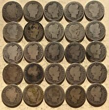 New listing 25 Circulated 90% Silver Barber Dimes