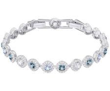 Swarovski 5289514 Angelic Square Bracelet, Blue, Rhodium Plated RRP $219