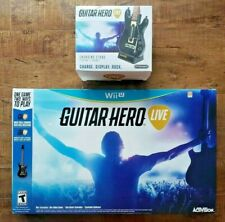 NINTENDO Wii U Guitar Hero LIVE BOXSET + Charging Stand ALL NEW/ SEALED