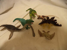 Lot of 6 - Safari LTD - Carnegie - Dinosaurs - Elamosaurus, Stegosaurus, tryann