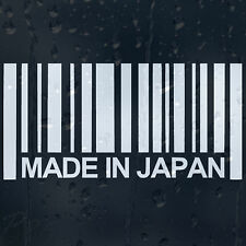 Made In Japan Barcode Car Or Laptop Decal Vinyl Sticker For Window Bumper Panel