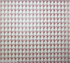 """6 x 12"""" Dancing Santas Patterned Vellum 120gsm NEW"""