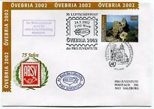 2002 Luftschiffpost n. 30 Pro Juven. Dirigibile OE-ZHY 75 Jahre ABSV OVEBRIA ONU