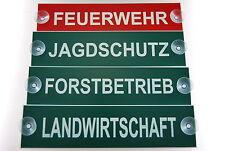 5 x Schild Jagdschutz,Landwirtschaft,Forstbetrieb oder Feuerwehr,etc