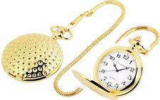 """Orologio da tasca """" metà """" Oro Colori Brillante con GIAPPONESE MECCANISMO &"""