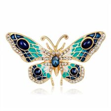 Diy Bouquet Brooch Pin Jewelry Gift Charm Women Crystal Rhinestone Butterfly Bee
