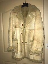 Vintage Rare Woolrich Rancher Sheepskin Shearling Marlboro Man Coat Men Sz S/M