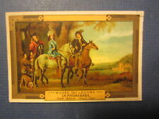 Old 1880's Jh Lervilles CHICOREE French TRADE CARD - LOUVRE Museum La Promenade