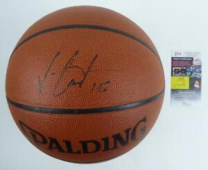 Vince Carter Toronto Raptors Signed NBA Full Size Basketball JSA COA