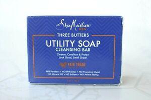 Shea Moisture Three Butters Men Utility Soap Cleansing Bar 5 Oz