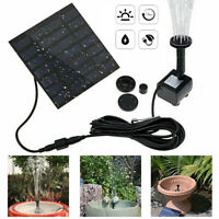 Solar Powered Fountain Water Feature Pump Garden Pond Pool Panel Submersible AU