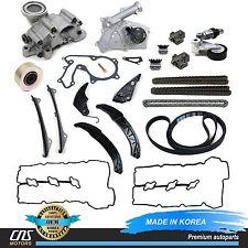 GENUINE Timing Chain Kit w/ A/C Belt Tensioner Fits 06-10 Hyundai Kia 3.3L 3.8L