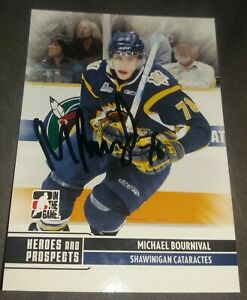 Montreal Canadiens Michael Bournival Signed 2009-10 ITG Heroes & Prospects Auto