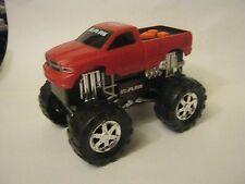 Battery Powered Red Dodge Ram Monster Truck, battery cover missing,works(012-11)