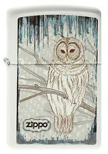 Zippo en TU MECHERO White Owl White maletero búho nocturno pájaro nuevo embalaje original coleccionista!!!
