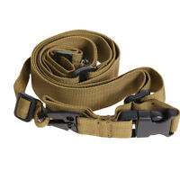 3 Point Tactical Rifle Sling Adjustable Air Soft Paintball Hunting Gun Straps UK