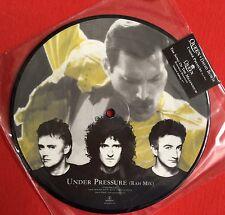 "QUEEN/DAVID BOWIE -Under Pressure- Rare UK 7"" Picture Disc (Vinyl Record)"