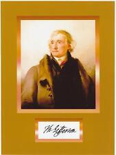 THOMAS JEFFERSON  8 x 10 REPRINT PHOTO & REPRINT AUTOGRAPH ON GLOSSY PHOTO PAPER