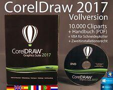 Corel Draw Graphics Suite 2017 Vollversion Box + DVD Cliparts VBA Handbuch NEU